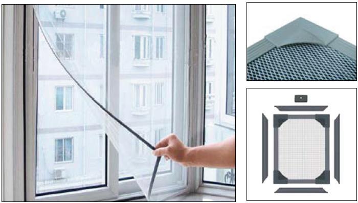 Bande autocollante pour moustiquaire 1 5mm x 25 4mm x 5m for Pellicule autocollante pour fenetre